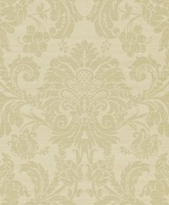 Crivelli damask wallpaper in Silver by Zophany