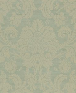 Crivelli damask wallpaper in Teal by Zophany