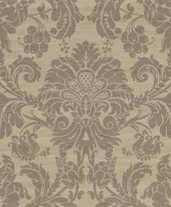 Crivelli damask wallpaper in Amethyst by Zophany