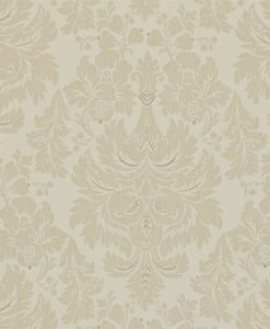 Alvescot damask wallpaper by Zophany in Silver