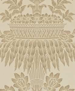 Long Gallery damask wallpaper by Zophany in Stone