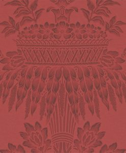 Long Gallery damask wallpaper by Zophany in Red