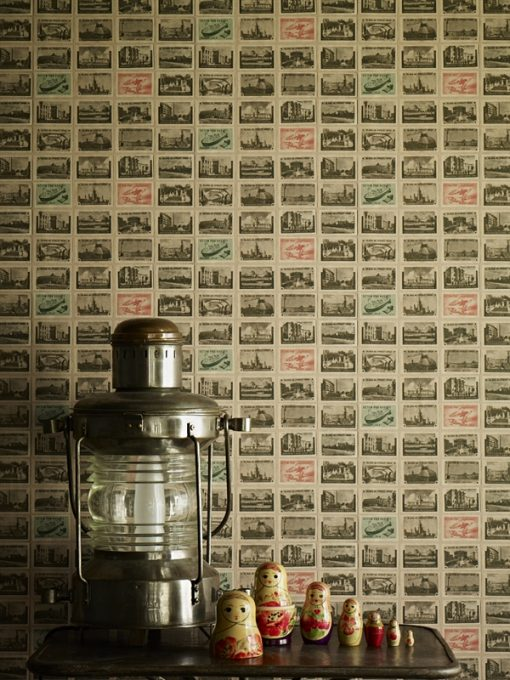 Back in the USSR Ephemera Wallpaper from Linwood