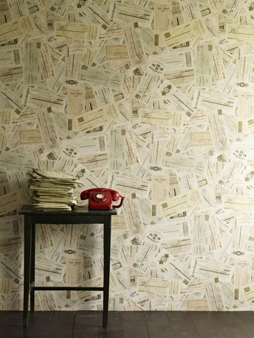 Skills to Pay the Bills - Ephemera Wallpaper - by Linwood Wallpaper