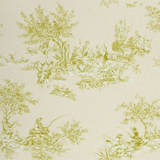 Etienne by Harlequin wallpaper in lime and neutral