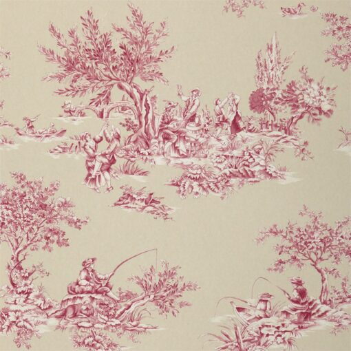 Etienne by Harlequin wallpaper in Fuchsia and neutral