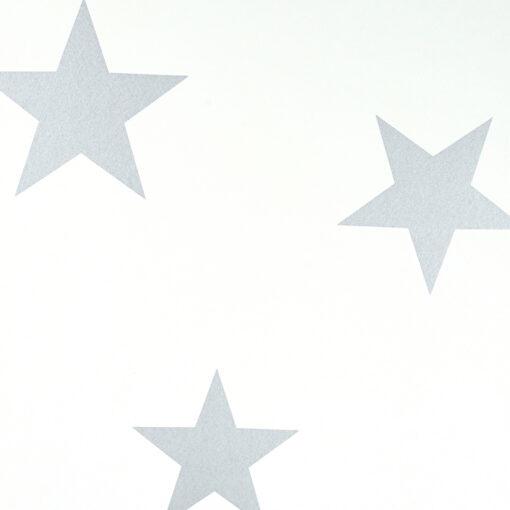 Hibou - Stars Wallpaper in silver