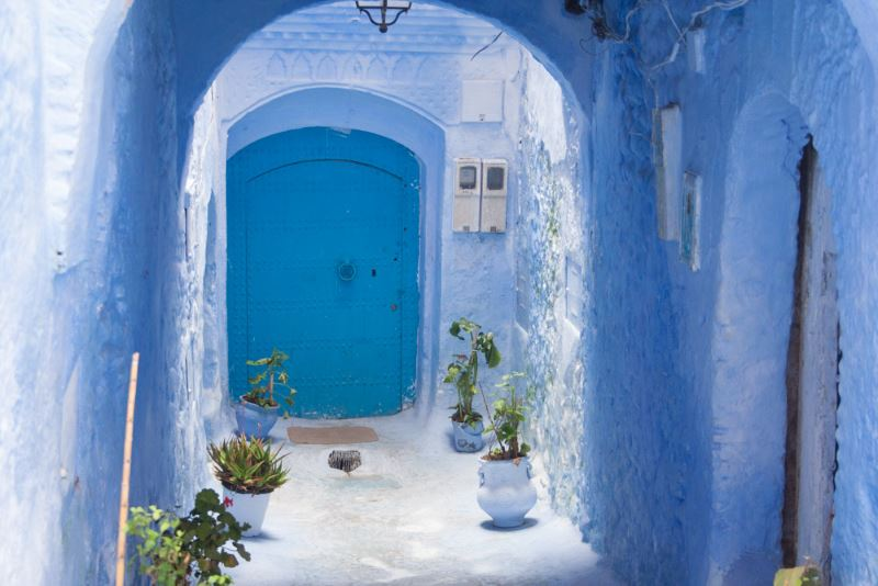 Chaouen Morocco - Beautiful blue doors
