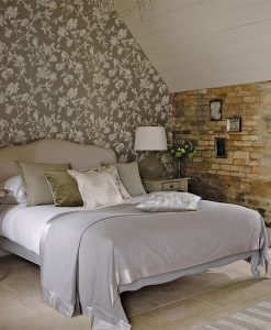 Magnolia and Pomegranate wallpaper from the Woodland Walk collection by Sanderson
