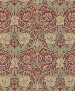 Honeysuckle and Tulip wallpaper design from Morris & Co.