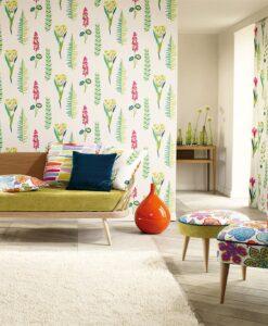 Papavera Floral Bazaar Wallpaper