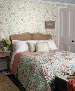 Mary Isobel Wallpaper in a bedroom