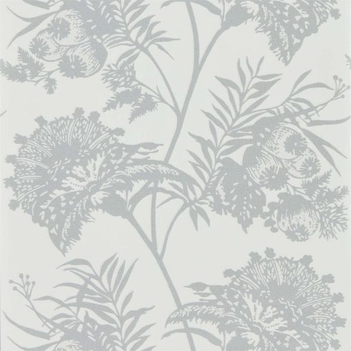 Bavero Shimmer Wallpaper in Silver