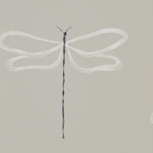 Japandi Dragonfly wallpaper in Parchment