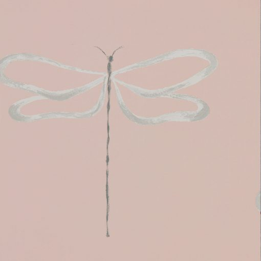 Japandi Dragonfly wallpaper in Rose