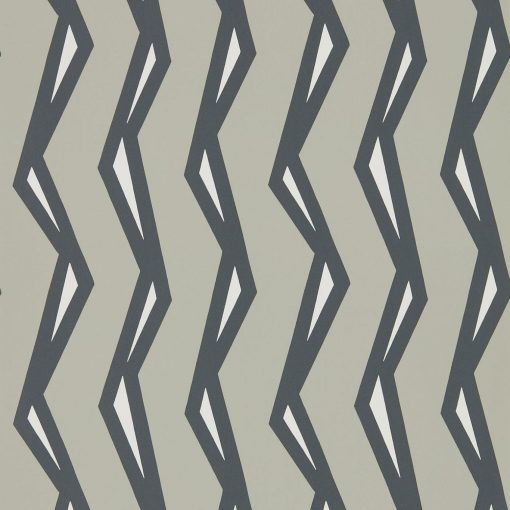 Rayo wallpaper in Steel and Liquorice