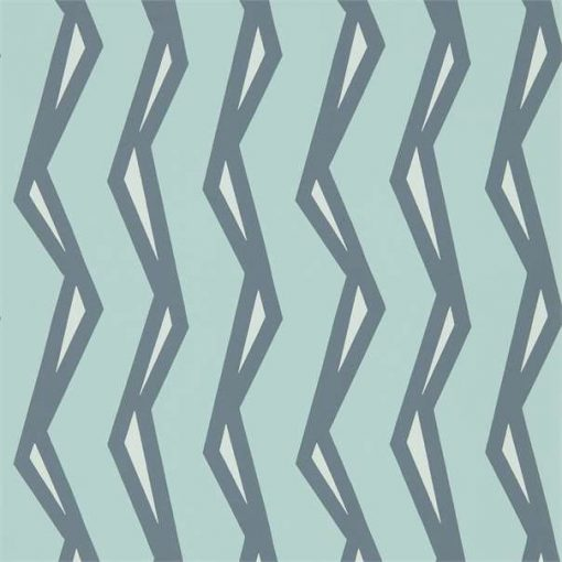 Rayo wallpaper in Mist & Denim
