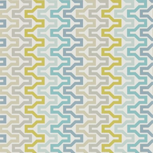 NNUE111834 Sioux wallpaper in Marine Midhight and Kiwi