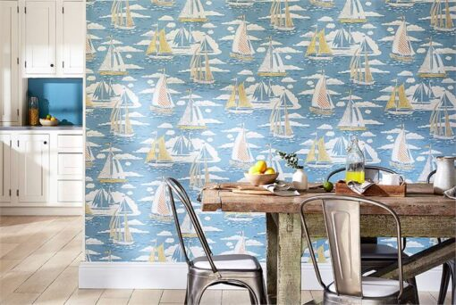 Sailor Wallpaper from the Port Isaac Collection by Sanderson