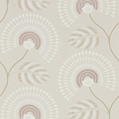 HPUT111911 Louella Wallpaper from the Paloma Collection in Rose Quartz and Pearl