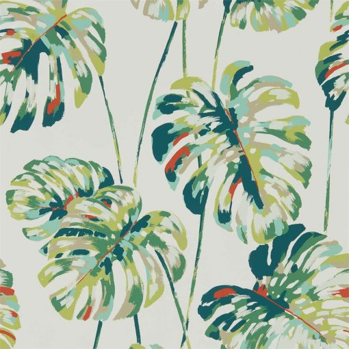 Kelapa wallpaper in Emerald & Zest