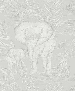 Kinabalu elephant wallpaper in Silver