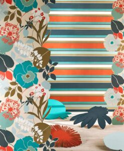Bella Stripe Wallpaper from the Standing Ovation Collection by Harlequin