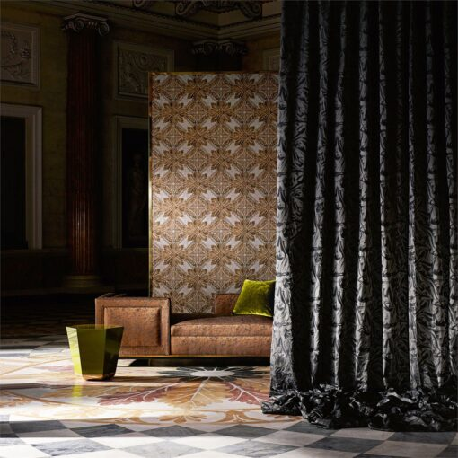 Medevi Mirror Wallpaper from the Phaedra Collection by Zophany