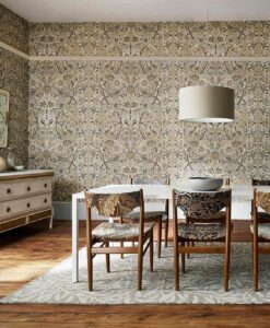 Bullerswood Wallpaper from the Archives IV Collection by Morris & Co