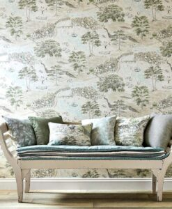 Sea Houses Wallpaper from the Embleton Bay Collection by Sanderson Home
