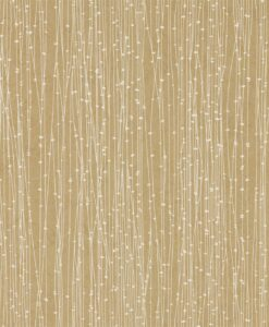 Kalamia Wallpaper from the Callista Collection by Harlequin Wallpaper in Cream & Gold