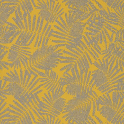 Espinillo Wallpaper from the Callista Collection by Harlequin Wallpaper in Mimosa & Pewter
