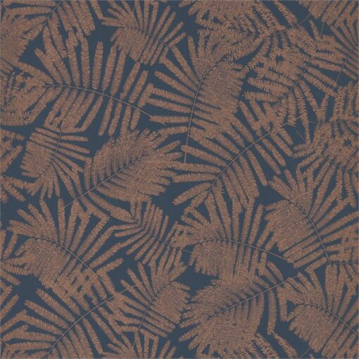 Espinillo Wallpaper from the Callista Collection by Harlequin Wallpaper in Indigo & Copper