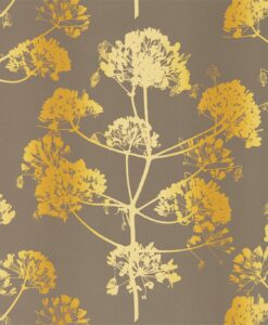 Angeliki Wallpaper from the Callista Collection by Harlequin Wallpaper in Mimosa & Antique Gold