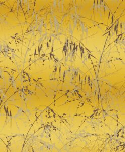 Meadow Grass Wallpaper from the Callista Collection by Harlequin Wallpaper in Mimosa & Mulberry