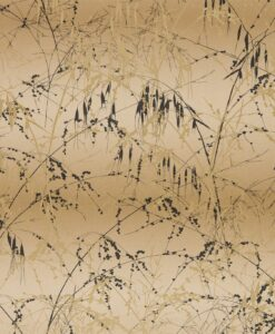Meadow Grass Wallpaper from the Callista Collection by Harlequin Wallpaper in Gold & Bronze