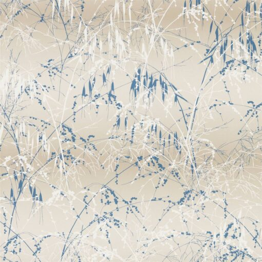 Meadow Grass Wallpaper from the Callista Collection by Harlequin Wallpaper in Gilver & Cream