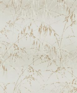 Meadow Grass Wallpaper from the Callista Collection by Harlequin Wallpaper in Paper & Gold