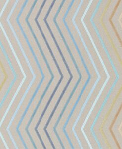 Tresillo Wallpaper by Harlequin in Sky Cerulean and Caper