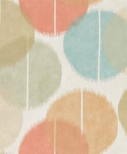 Circulo wallpaper from the Tresilio Collection by Harlequin in Zest and Azure