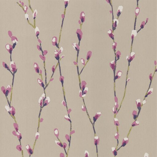 Salice Wallpaper from the Standing Ovation Collection by Harlequin Wallpaper Australia in Heather & Gilver