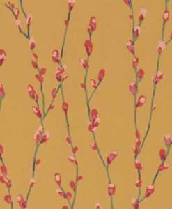 Salice Wallpaper from the Standing Ovation Collection by Harlequin Wallpaper Australia in Fuchsia & Sunshine