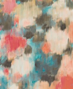 Exuberance Wallpaper from the Standing Ovation Collection by Harlequin Wallpaper in Coral & Turquoise