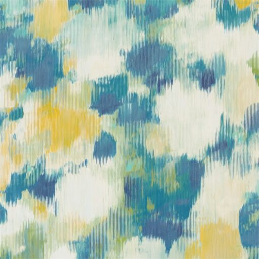 Exuberance Wallpaper from the Standing Ovation Collection by Harlequin Wallpaper in Lemon & Navy