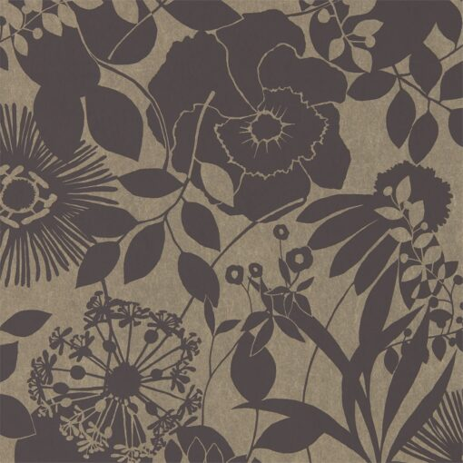 Coquette Wallpaper from the Standing Ovation Collection by Harlequin in Ebony