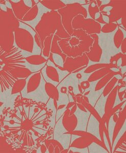 Coquette Wallpaper from the Standing Ovation Collection by Harlequin in Coral