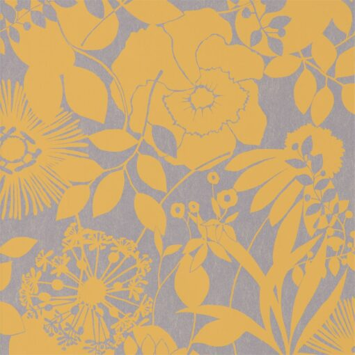 Coquette Wallpaper from the Standing Ovation Collection by Harlequin in Lemon