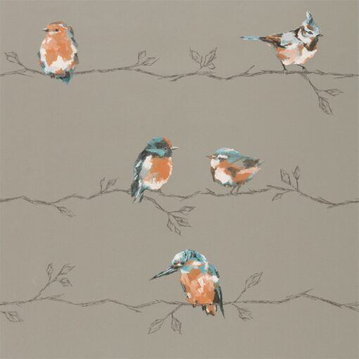 Persico Wallpaper from the Standing Ovation Collection by Harlequin in Tang & Duck Egg