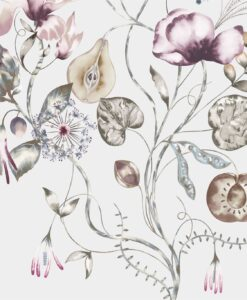 Quintessence Wallpaper from the Standing Ovation Collection by Harlequin in Ochre, Olive & Heather