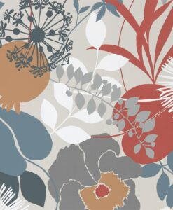 Doyenne Wallpaper from the Standing Ovation Collection by Harlequin in Chalk, Copper & Sepia